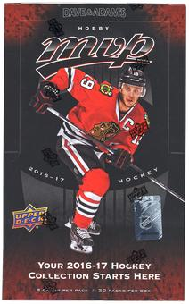 2016/17 Upper Deck MVP Hockey Hobby Box (PLUS 2016 UD World Cup Pack!)