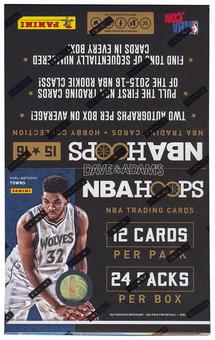 2015/16 Panini Hoops Basketball Hobby Box