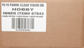 2015/16 Panini Clear Vision Basketball Hobby 8-Box Case