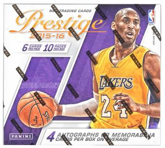 2015/16 Panini Prestige Plus Basketball Hobby Box