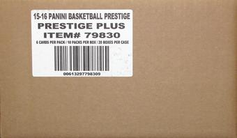 2015/16 Panini Prestige Plus Basketball Hobby 20-Box Case