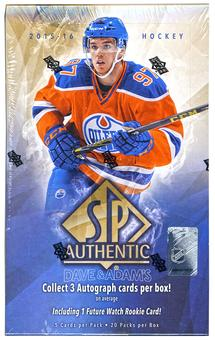 2015/16 Upper Deck SP Authentic Hockey Hobby Box (PLUS 2016 UD World Cup Packs!)