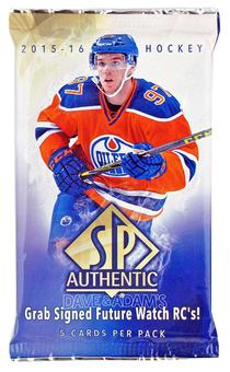 2015/16 Upper Deck SP Authentic Hockey Hobby Pack
