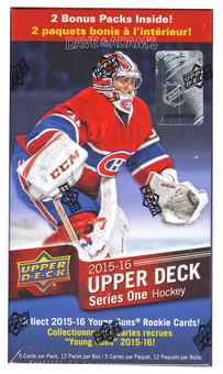 2015/16 Upper Deck Series 1 Hockey 12-Pack Box