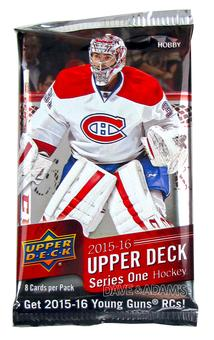 2015/16 Upper Deck Series 1 Hockey Hobby Pack