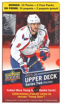 2015/16 Upper Deck Series 2 Hockey 12-Pack Box