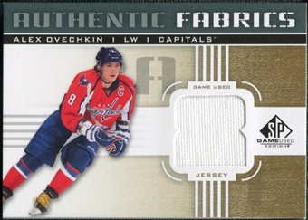 2011/12 Upper Deck SP Game Used Authentic Fabrics Gold #AFAO1 Alexander Ovechkin 8 C