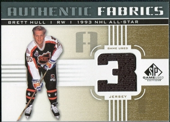 2011/12 Upper Deck SP Game Used Authentic Fabrics Gold #AFBH2 Brett Hull 3 C