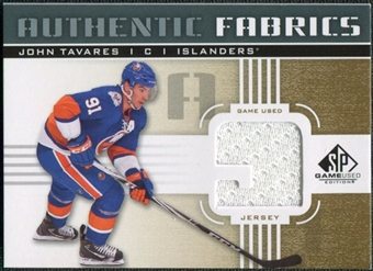 2011/12 Upper Deck SP Game Used Authentic Fabrics Gold #AFJT2 John Tavares 9 C