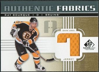 2011/12 Upper Deck SP Game Used Authentic Fabrics Gold #AFRB2 Ray Bourque 7 C