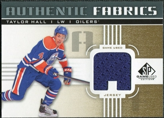2011/12 Upper Deck SP Game Used Authentic Fabrics Gold #AFTH1 Taylor Hall A C