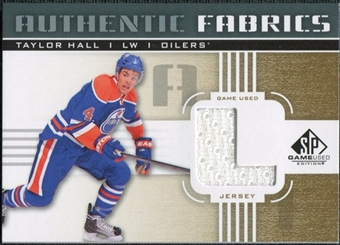 2011/12 Upper Deck SP Game Used Authentic Fabrics Gold #AFTH3 Taylor Hall L C