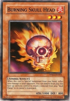 Yu-Gi-Oh Promo Single Burning Skull Head Ultra Rare WB01