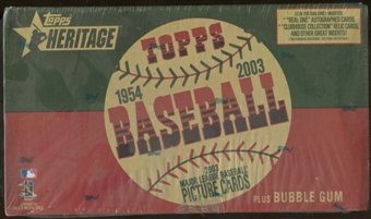 2003 Topps Heritage Baseball Retail Box