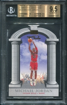 1997/98 SkyBox Premium Competitive Advantage #CA3 Michael Jordan BGS 9.5 GEM MINT *1257