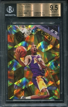 1997/98 Fleer Ultra Stars Gold #3 Kobe Bryant BGS 9.5 Gem Mint *1254