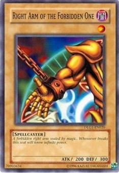 Yu-Gi-Oh Dark Legends Single Right Arm of the Forbidden One Common DLG1