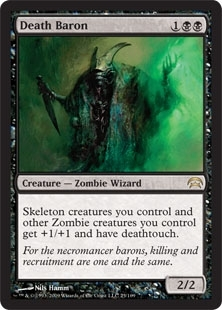 Magic the Gathering Planechase Single Death Baron - NEAR MINT (NM)