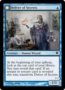 Magic the Gathering Innistrad Single Delver of Secrets Foil - NM