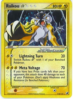 Pokemon Unseen Forces Single Raikou 114/115 Gold Star - NEAR MINT (NM)