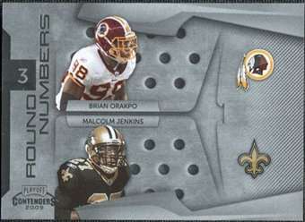 2009 Panini Playoff Contenders Round Numbers #6 Brian Orakpo/Malcolm Jenkins