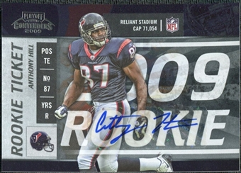 2009 Panini Playoff Contenders #139 Anthony Hill Autograph