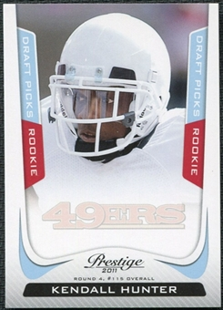 2011 Panini Prestige Draft Picks Light Blue #258 Kendall Hunter /999