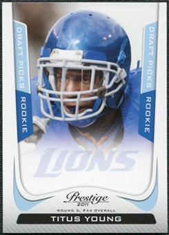 2011 Panini Prestige Draft Picks Light Blue #296 Titus Young /999