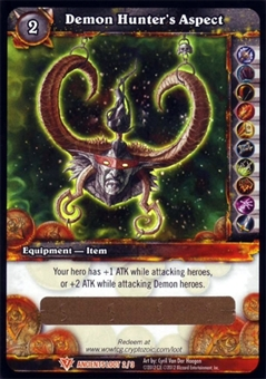 WoW War of the Ancients Single Demon Hunter's Aspect Loot Card