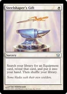 Magic the Gathering Fifth Dawn Single Steelshaper's Gift - NEAR MINT (NM)