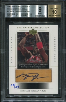 2000 Upper Deck Legends Master Collection Mystery Pack Inserts #MJA1 Michael Jordan Auto Floor 5/23