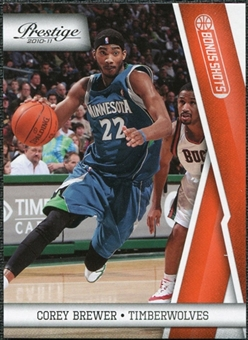 2010/11 Panini Prestige Bonus Shots Orange #66 Corey Brewer /499