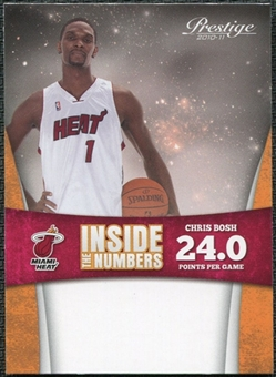 2010/11 Panini Prestige Inside the Numbers #4 Chris Bosh