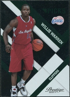 2010/11 Panini Prestige Prestigious Picks Green #33 Willie Warren /499