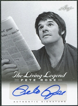 2012 Leaf Pete Rose The Living Legend Autographs #AU9 Pete Rose Autograph