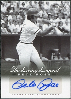 2012 Leaf Pete Rose The Living Legend Autographs #AU19 Pete Rose Autograph