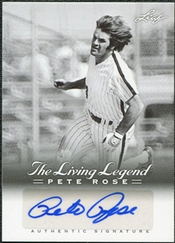 2012 Leaf Pete Rose The Living Legend Autographs #AU35 Pete Rose Autograph