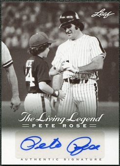 2012 Leaf Pete Rose The Living Legend Autographs #AU37 Pete Rose Autograph