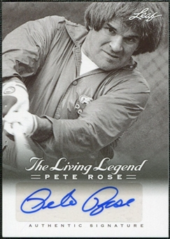 2012 Leaf Pete Rose The Living Legend Autographs #AU41 Pete Rose Autograph