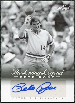 2012 Leaf Pete Rose The Living Legend Autographs #AU47 Pete Rose Autograph