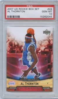 2007/08 Upper Deck NBA Rookie Box Set #24 Al Thornton RC PSA 10 Gem Mint