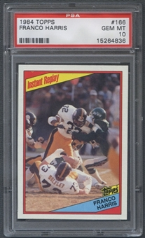 1984 Topps Football #166 Franco Harris (Instant Replay) PSA 10 (GEM MT) *4836