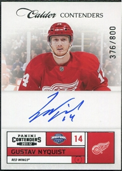 2011/12 Panini Contenders #216 Gustav Nyquist RC Autograph 376/800