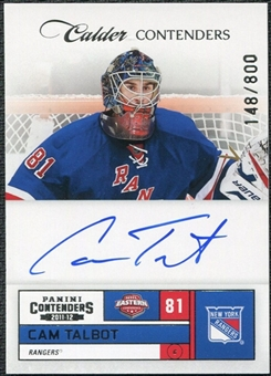 2011/12 Panini Contenders #234 Cam Talbot RC Autograph /800