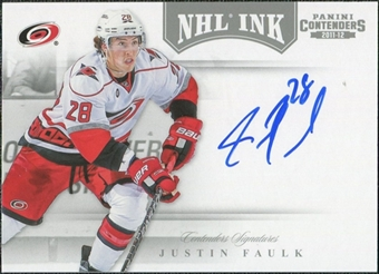 2011/12 Panini Contenders NHL Ink #9 Justin Faulk Autograph