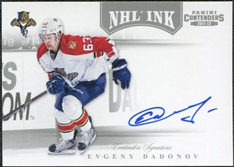 2011/12 Panini Contenders NHL Ink #21 Evgeny Dadonov Autograph
