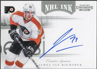 2011/12 Panini Contenders NHL Ink #44 James van Riemsdyk SP Autograph