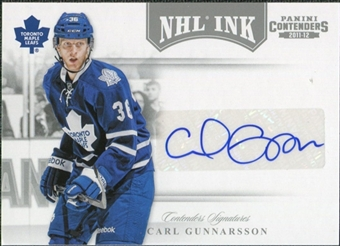2011/12 Panini Contenders NHL Ink #62 Carl Gunnarsson Autograph