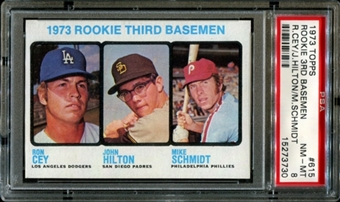 1973 Topps Baseball #615 Mike Schmidt Rookie PSA 8 (NM-MT) *3730