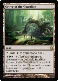 Magic the Gathering Return to Ravnica Single Grove of the Guardian UNPLAYED (NM/MT) - 4x Playset
